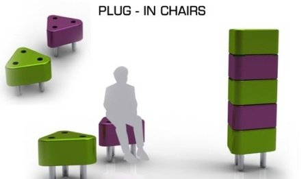 Plug-in chairs, sillas que se conectan como enchufes