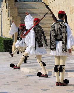 cambio de guardia griego