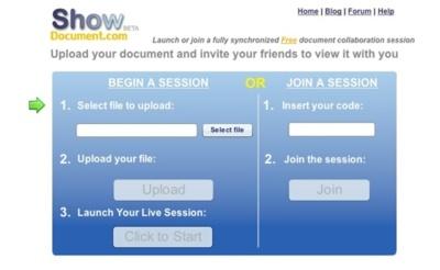 Show Document, revisión online colaborativa de documentos
