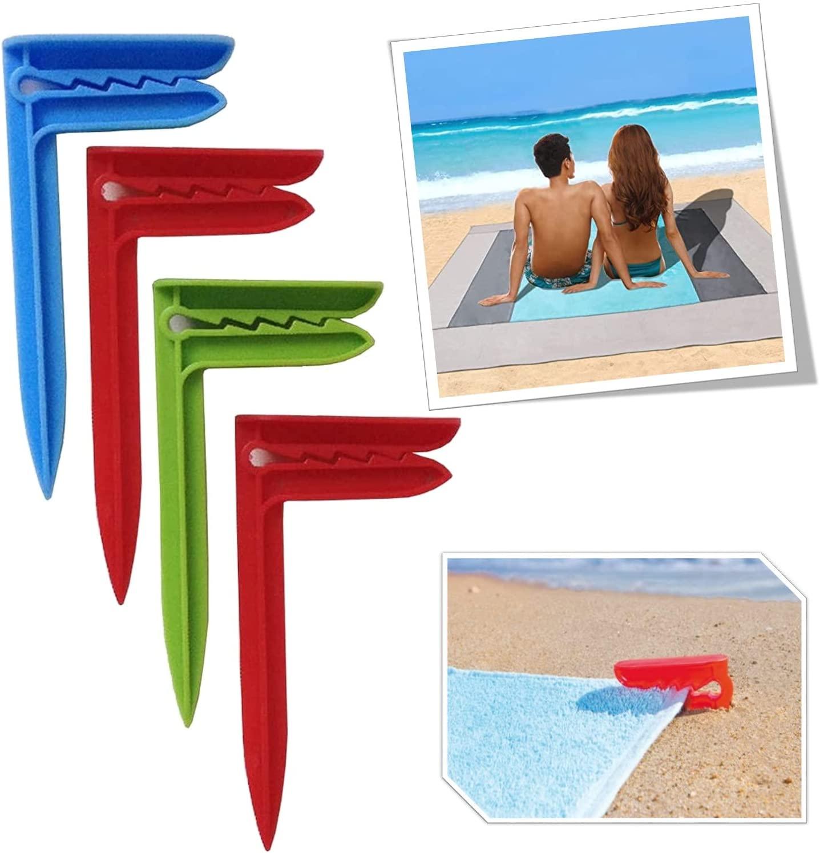 Accesorios para la playa n.º 4 piquetas para toalla de playa pinzas toalla playa sujeta mantel