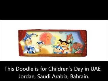 El doodle de Google por el Día Universal del Niño