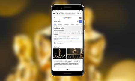 Google se prepara para  los Premios Óscar 2020: resultados avanzados, GIFs durante la gala y más