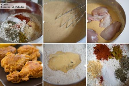 Pollo estilo Kentucky - elaboración