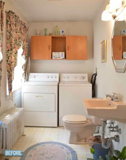 Decorar Baño Lavadora:Antes y después: cuarto de lavado en el baño