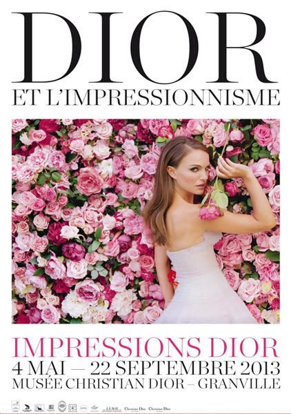 Cartel Dior y el impresionismo