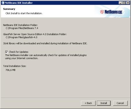 NetBeans - empezar instalación