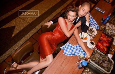 Karlie Kloss se va de cena con Jason Wu en su campaña Verano 2015