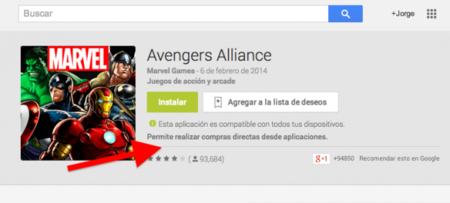 Google Play nos da ahora el indicador de apps que cuentan con compras In-App