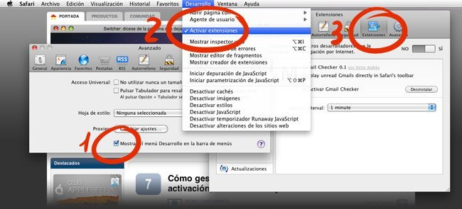 Safari 5 Extensiones