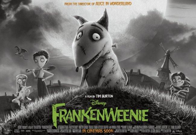 Imagen del cartel de Frankenweenie de Tim Burton