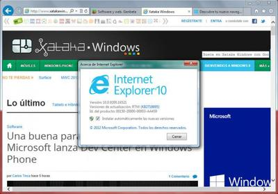 Internet Explorer 10 llega a Windows 7