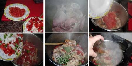 Preparación del conejo al vino