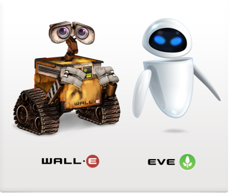 Iconos de Wall-E y EVE