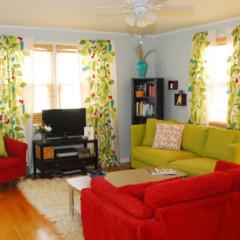 Foto 1 de 5 de la galería un-salon-en-rojo-y-verde en Decoesfera