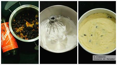 Pastel de queso ricotta y uvas pasas cocidas en Marsala