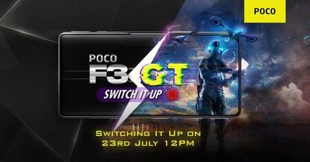 POCO nos cita el próximo 23 de julio: el nuevo POCO F3 GT aterriza en La India