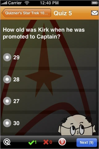 Preguntas Star Trek iPhone iPod Touch