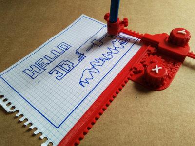 Un Telesketch fabricado con una impresora 3D