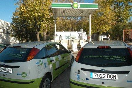 Gasolinera con bioetanol