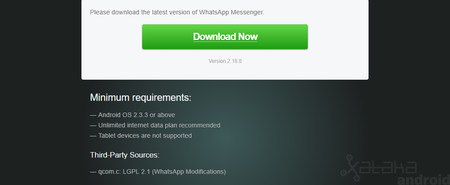 Whatsapp Gingerbread