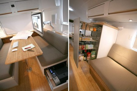 Casas poco convencionales - caravana - interior 2