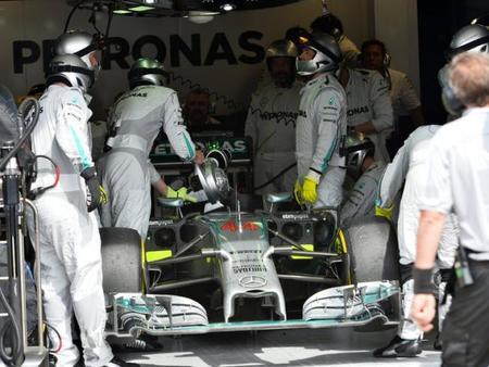 Los pilotos de Mercedes AMG demostraron que el W05 es vulnerable