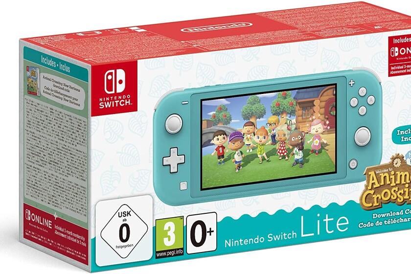 Nintendo Switch Lite con Animal Crossing y 3 meses de Nintendo Switch Online por 199 euros en Amazon, su precio mínimo histórico