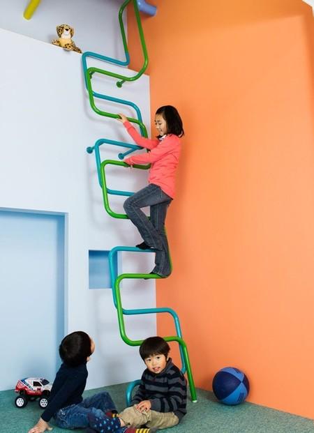 Kidslofty escaleras seguras divertidas y coloristas para - Barandillas escaleras ninos ...
