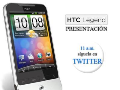 HTC Legend, seguimos su presentación en España en twitter