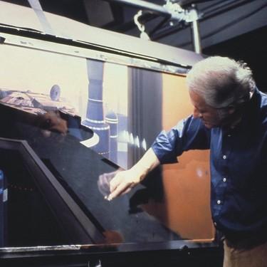 Las mejores escenas de Star Wars fueron pintadas a mano sobre la mampara de una ducha