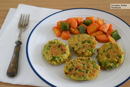 Pastelitos salados de cuscús y pimiento: receta saludable