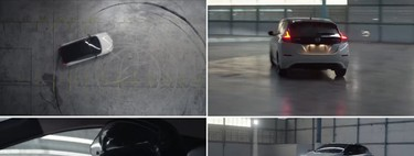 Haciendo un poco de drift, Nissan LEAF demuestra que los autos eléctricos pueden ser muy divertidos