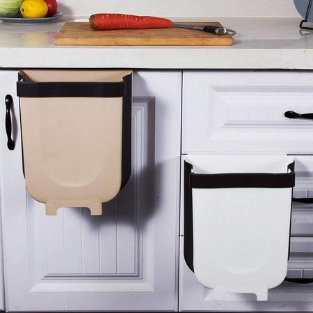 Ttmow Cubos De Basura Plegable Colgando Para La Cocina Coche 9l Blanco