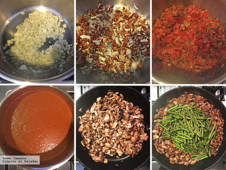 Enchiladas Champiñones y esparragos