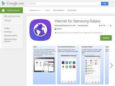 Samsung publica en Google Play el navegador de Internet de sus Galaxy