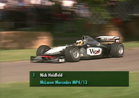 Nick Heidfeld F1 Goodwood Fos 1999