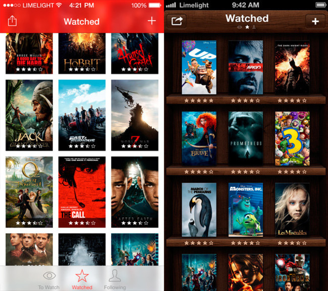 Limelight Movie Library para iOS 7