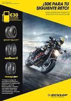 Dunlop te regala 30 € de carburante por la compra de un juego de neumáticos durante el mes de marzo