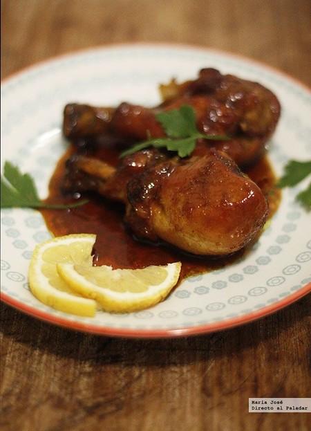 Muslos de pollo con miel y curry