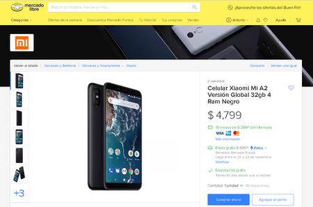 Xiaomi Mi A2 Mexico Oficial Precio