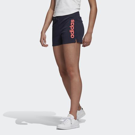 Pantalon Corto Essentials Linear Logo Azul Gd3014 21 Model