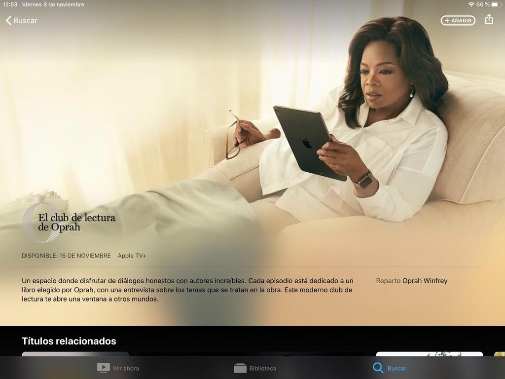 El Club del Libro de Oprah Winfrey estará disponible en Apple TV+ a partir del próximo 15 de noviembre