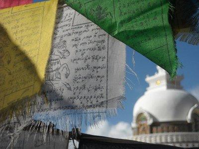 Las banderas de oración budistas