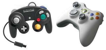 Mandos de GameCube y Xbox 360