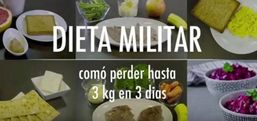 dieta militar 4 semanas