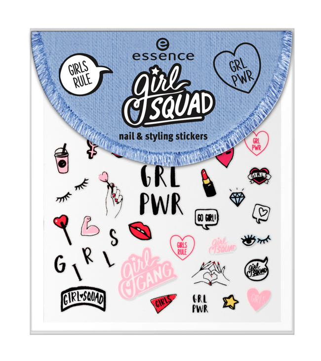 Essence Girl Squad Nail Styling Stickers 01