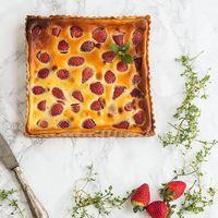 Tarta de fresas y yogur: receta