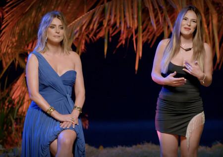 Sandra con cara de 'me quiero ir de aquí, no soporto a estos dos desquiciados' - Telecinco