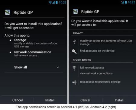 Permisos en Android 4.2
