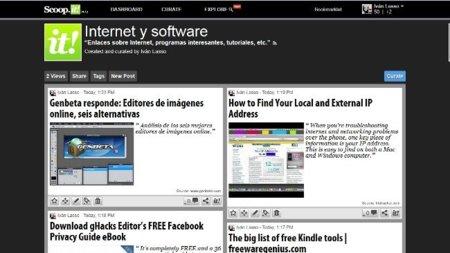 Nuestra página tal y como la vemos accediendo a ella como administradores
